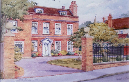 Lime House, Cobham - 2006 Watercolour by Christine Scott